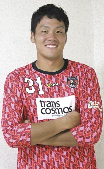 平成3年生まれ、海草郡紀美野町出身。福岡大卒、平成26年にアルテリーヴォに加入。U-17、18、19日本代表