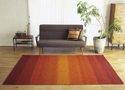 天然素材のハグみじゅうたん 敷くだけで秋の暮らしに彩りと温かみが