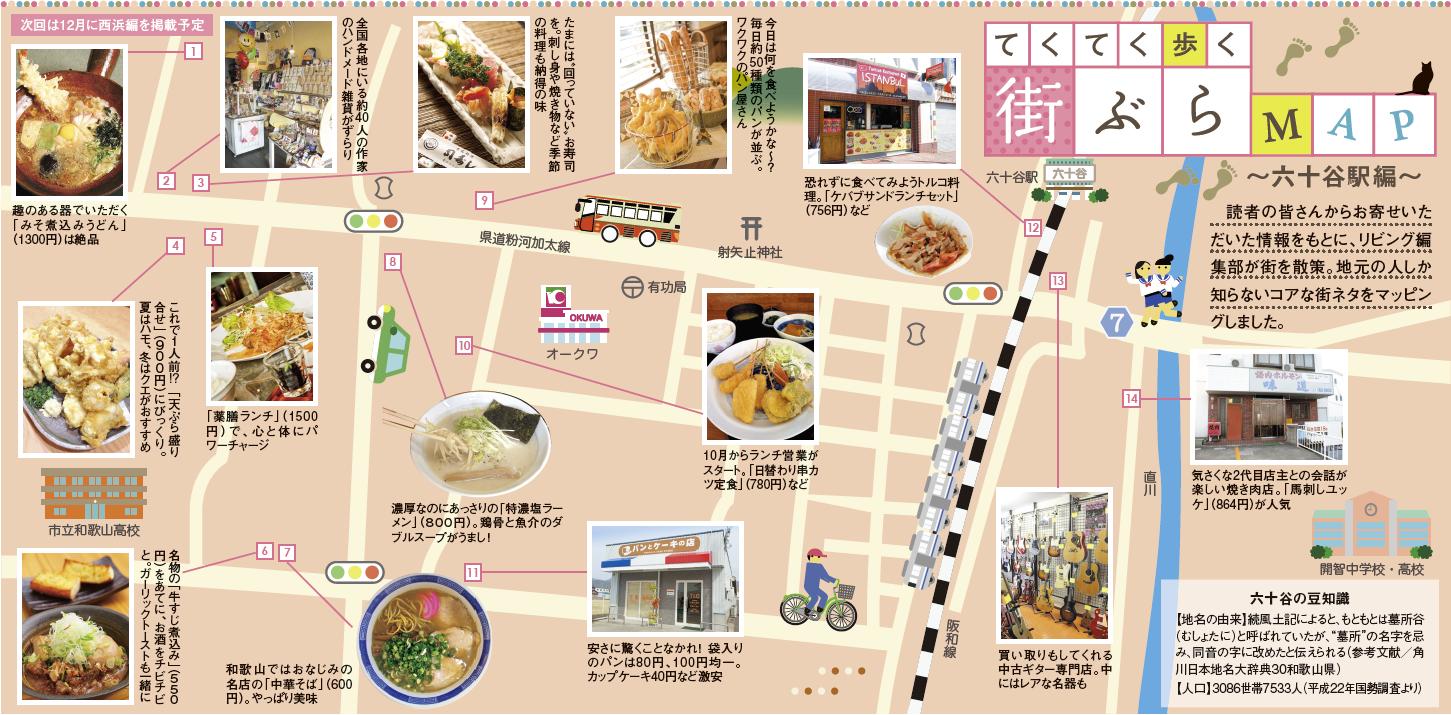 てくてく歩く街ぶらMAP ~六十谷駅編~