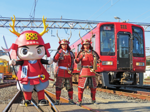 真田幸村をイメージした列車が見参