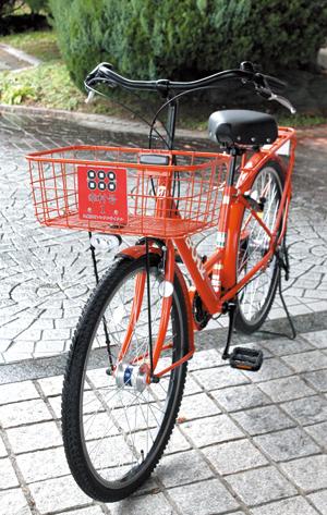 街中をゆっくりとめぐるのに便利な自転車。8時間500円、4時間300円☎0736(54)2019九度山町産業振興課