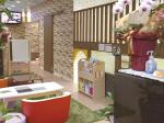 子連れでも、ひとりでもくつろげるカフェ キッズスペース、子ども用トイレ完備