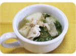 小松菜と長いものゴマみそスープ