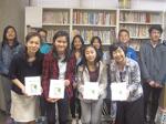 カナダのグラッドストーン日本語学園から 留学生が来和! 地元の学生らと交流