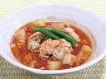 太刀魚(たちうお)つみれのトマトスープ