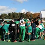 今季最後の試合だった地域CLでの円陣と下部組織・アルテリーヴォ湯浅の子どもたちが贈った折り鶴