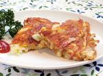パリッと焼いたジャガイモとタケノコの食感がよいガレット。シラスにチーズ、ベーコンの味わいでおいしく仕上がります