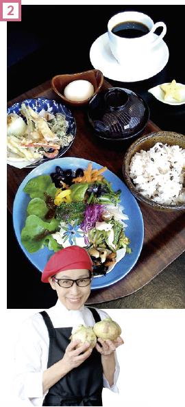 旬の野菜がたっぷり食べられる「腹七分ミニランチ」(800円)は、1日10食完全予約制(ゴールデンウイーク期間は提供なし)