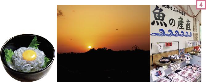 「日本の夕陽百選」に選ばれている岬町の夕日。展望灯台で撮影