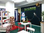 カフェ「やすみじかん」が併設されリニューアル 学校の食堂のように気軽に立ち寄って