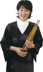 笙の演奏をするのは 塚田由里子さん