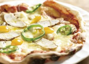 はたごんぼのピザセット1200円(飲み物付き)
