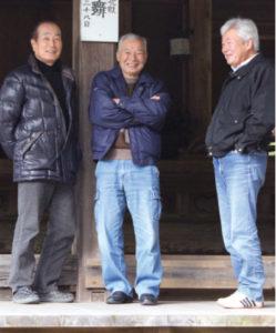 保存会の保田隆さん、松本博光さん、松浦さん(左から)
