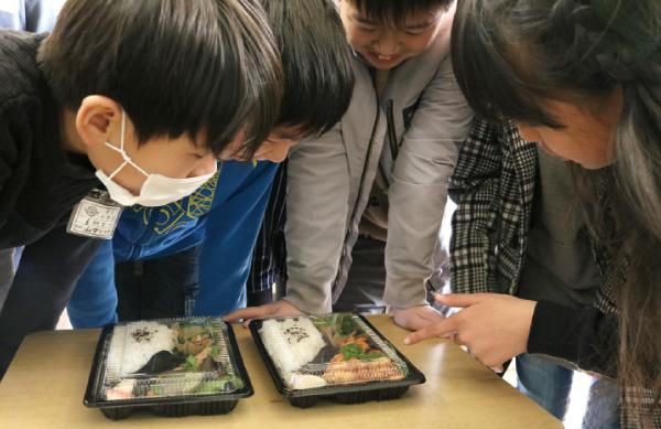 有功小学校6年2組が、「にこにこのうえん」とコラボして企画した オリジナルのお弁当を食べて!