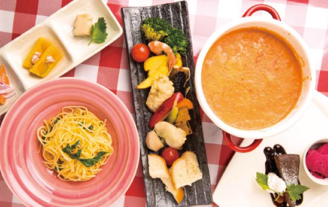 和食材とイタリアンが見事に融合 昼はリッチにチーズフォンデュ&パスタを