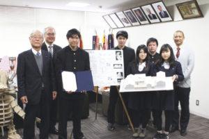 和歌山工業高校で受賞式が行われました
