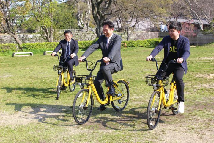 通勤や通学、観光客の利便性向上 和歌山市でシェアサイクル事業がスタート 中心市街地や観光地に23カ所のサイクルポート