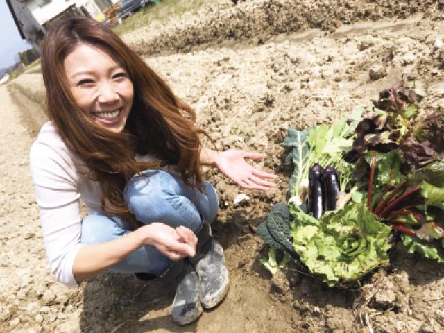 「野菜づくり楽しみましょう」と話す田中さん