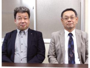 左:和歌山県薬剤師会災害対策委員長・松尾哲也常務理事 右:稲葉眞也会長