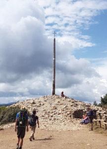 サンティアゴ巡礼道、イラゴ峠の鉄の十字架の丘