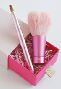 熊野筆 ハート洗顔ブラシ&リップセット
