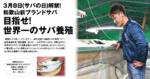 3月8日(サバの日)解禁! 和歌山新ブランドサバ 目指せ! 世界一のサバ養殖