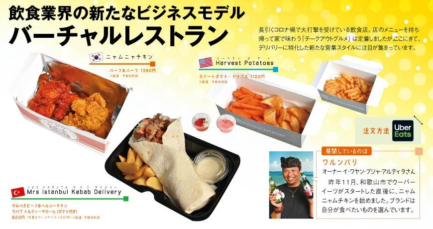 飲食業界の新たなビジネスモデル バーチャルレストラン