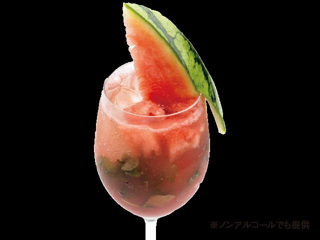 スイカモヒート 1000円 Cafe&Bar LynX(カフェアンドバーリンクス)