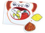 こぴちゃんの手作りおもちゃ 手遊びくいしんぼうのゴリラ