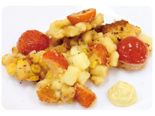 思わず食べちゃう!野菜がおいしくなるレシピ「フルーツトマトのかき揚げ」