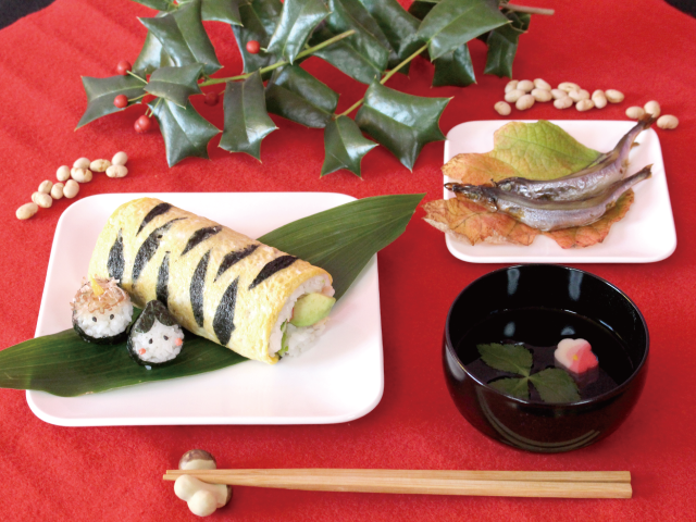 かわいい、おいしい、簡単!makimakiクッキング「~節分の巻~ 鬼のパンツ柄巻き寿司」