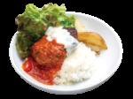 イタリアンハンバーグ丼 780円、ローストビーフ丼880円
