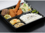 ミックス弁当(エビフライ&ヒレカツ& 魚フライ&ハンバーグ) 1,011円