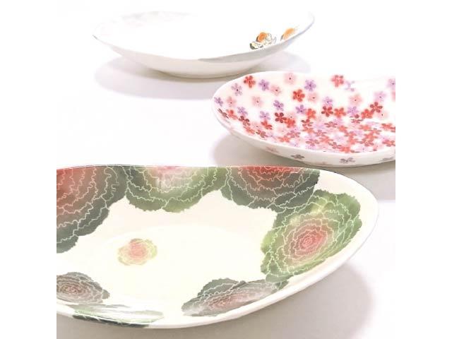 植物デザイン原画と陶磁器 中西芙美展